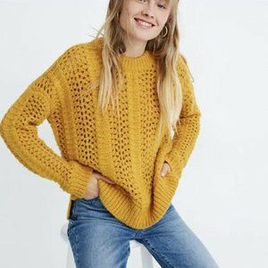 MADEWELL NWT $98 Yellow Windemere Pointelle